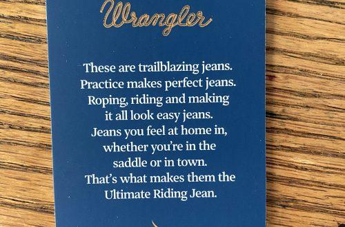 Wrangler's Jeans Tag