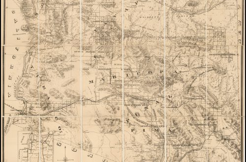 1878 Hinton Handbook map of Arizona mines, telegraphs