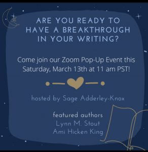 You're Invited! Sage's Pop-up for Writers